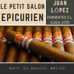 Le Salon des Epicuriens - Juan López Eminents Suiza 2016